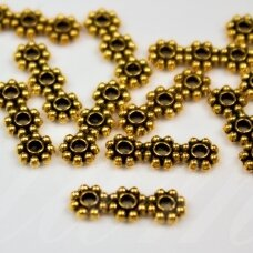 md0543 apie 15 x 5 x 2 mm, sendinta auksinė spalva, 3 skylių, paskirstytojas, 12 vnt.