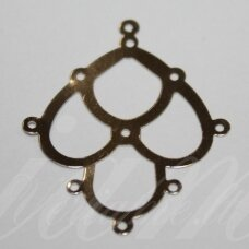 md0638 apie 40 x 32.5 x 0.4 mm, metalo spalva, paskirstytojas, 10 vnt.