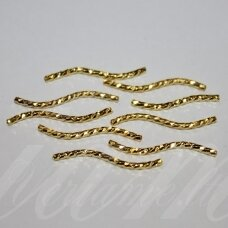 md0758 about 25 x 2 mm, gold color, insert, 10 pcs.