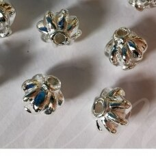 md1273 about 8 x 8 mm, silver color, insert, 8 pcs.