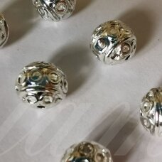 md1273.5 about 9 x 9 mm, silver color, insert, 6 pcs.