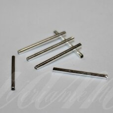 md0790 about 20 x 1.5 mm, silver color, insert, 20 pcs.