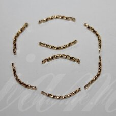 md0797 about 15 x 2 mm, gold color, insert, 28 pcs.