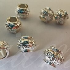 md1272.5 about 7 x 8.5 mm, silver color, insert, 8 pcs.