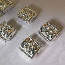 md1269.5 about 7.5 x 7 x 3.5 mm, silver color, insert, 16 pcs.