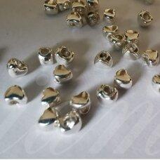 md1202.5 apie 3 x 4 x 3 mm, sidabrinė spalva, intarpas, apie 40 vnt.