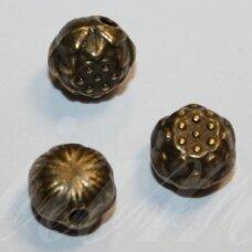 md0819 apie 8 x 6 mm, žalvario spalva, intarpas, 6 vnt.