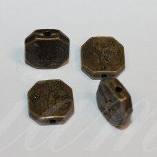 md0832.2 apie 11.5 x 11.5 x 3.5 mm, žalvario spalva, intarpas, 5 vnt.