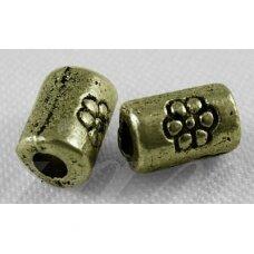 MD0837 apie 5 x 3 mm, žalvario spalva, intarpas, apie 26 vnt.