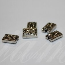 md0926 apie 7 x 5 x 3 mm, metalo spalva, intarpas, 16 vnt.