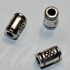 md0952 apie 5 x 3 mm, metalo spalva, intarpas, 30 vnt.