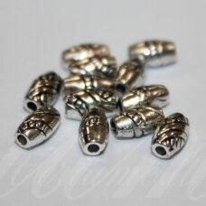 md1066 apie 8 x 4.5 mm, metalo spalva, intarpas, 20 vnt.