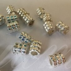 md1271.5 about 5.5 x 5 mm, silver color, insert, about 22 pcs.