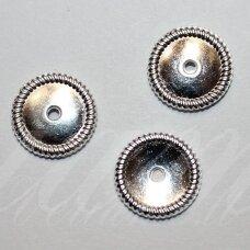 md1210 apie 2 x 13.5 mm, sidabrinė spalva, intarpas, 10 vnt.