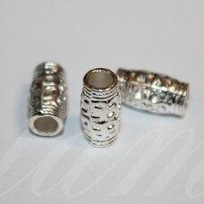 md1228 apie 12 x 6.5 mm, sidabrinė spalva, intarpas, 8 vnt.