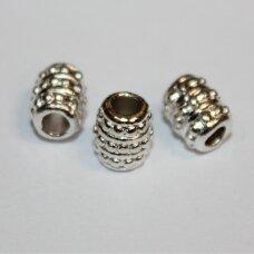 md1248.4 apie 8 x 6.5 mm, sidabrinė spalva, intarpas, 10 vnt.