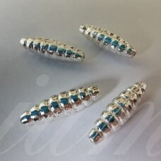 md1279.5 about 19 x 6 mm, silver color, insert, 4 pcs.