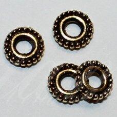 MD1396 apie 1 x 5.5 mm, sendinto aukso spalva, intarpas, apie 40 vnt.