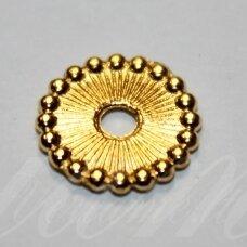 md1400.2 apie 1.5 x 11 mm, šviesi, auksinė spalva, intarpas, apie 12 vnt.