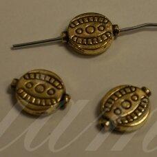 md1400.8 apie 12 x 10 x 3 mm, sendinta auksinė spalva, intarpas, 6 vnt.
