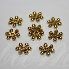 MD1401 apie 2.5 x 10 mm, sendinto aukso spalva, intarpas, apie 16 vnt.