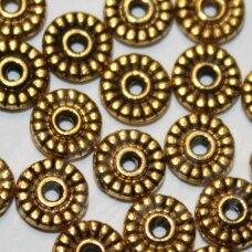 MD1402.5 apie 1.5 x 6 mm, sendinto aukso spalva, intarpas, apie 30 vnt.