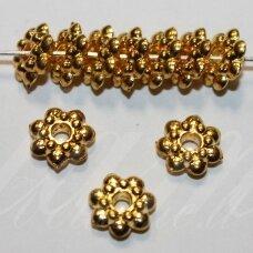 MD1403.2 apie 3.5 x 9 mm, šviesi, aukso spalva, intarpas, 10 vnt.