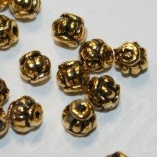 md1403.5 apie 4.2 x 4.5 mm, sendinta auksinė spalva, intarpas, apie 26 vnt.