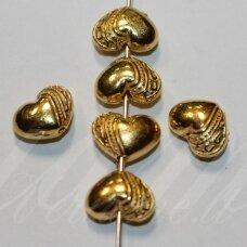 MD1404.2 apie 7.5 x 10 x 5.5 mm, šviesi, aukso spalva, intarpas, 6 vnt.