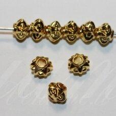 MD1404.7 apie 5 x 6 mm, šviesi, aukso spalva, intarpas, 18 vnt.