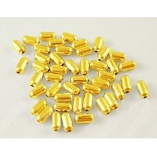 md1405.5 apie 5 x 2.5 mm, šviesi, auksinė spalva, intarpas, apie 100 vnt.