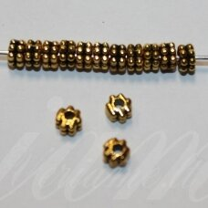 md1405.7 apie 2.5 x 4 mm, sendinta auksinė spalva, intarpas, apie 36 vnt.