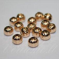 MD1406 apie 7 mm, aukso spalva, intarpas, 22 vnt.