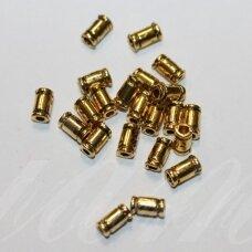 MD1406.7 apie 6 x 3 mm, sendinto aukso spalva, intarpas, apie 24 vnt.