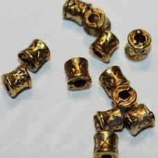 md1407.8 apie 3.8 x 4 mm, sendinta auksinė spalva, intarpas, apie 40 vnt.