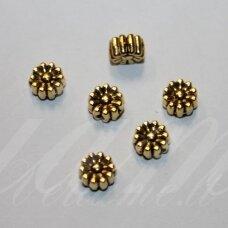 MD1409.5 apie 6,5 x 4 mm, sendinto aukso spalva, intarpas, 14 vnt.