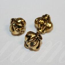 md1410.6 apie 7.5 x 8.5 mm, sendinta auksinė spalva, intarpas, 10 vnt.
