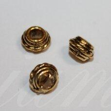 md1410.8 apie 5 x 8.5 mm, sendinta auksinė spalva, intarpas, 10 vnt.