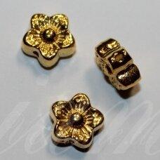 md1411 apie 7 x 4 mm, sendinta auksinė spalva, intarpas, 16 vnt.