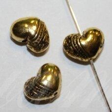 md1412.5 apie 7 x 10 x 5 mm, sendinta auksinė spalva, intarpas, 8 vnt.