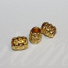 md1412.6 apie 8 x 6.5 mm, šviesi, auksinė spalva, intarpas, 10 vnt.