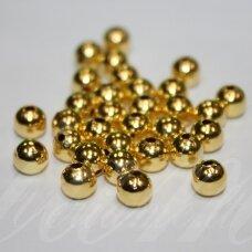 md1453.5 apie 2 mm, apvali forma, auksinė spalva, intarpas, apie 200 vnt.