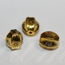 md1420.9 apie 11 x 10 mm, sendinta auksinė spalva, intarpas, 4 vnt.