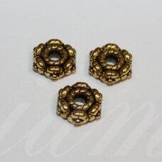 md1423.9 apie 4 x 10.5 mm, sendinta auksinė spalva, intarpas, 8 vnt.