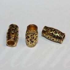 md1424.1 apie 12 x 6.5 mm, sendinta auksinė spalva, intarpas, 8 vnt.