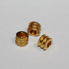 md1440.3 apie 4.5 x 5.5 mm, šviesi, auksinė spalva, intarpas, apie 26 vnt.