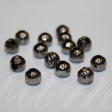 md1457 apie 5.5 mm, juoda spalva, intarpas, 25 vnt.