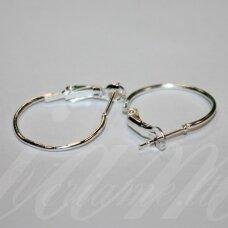 md1600 apie 25 x 20 mm, sidabrinė spalva, auskaro detalė, 4 vnt.