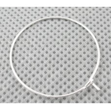 md1602 apie 23 x 21 mm, sidabrinė spalva, auskaro detalė, 6 vnt.