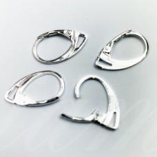 md1608 apie 18 x 11 mm, sidabrinė spalva, angliškas auskaro užsegimas, 4 vnt.